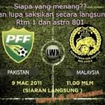 Perlawanan malaysia vs pakistan 2nd leg 2011 , ramalan anda??