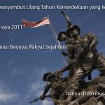 Sajak: kota kemerdekaan yang dibina