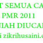 Hari ini keputusan PMR 2011, siapa dapat 8A???