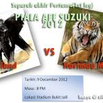 Keputusan terkini Malaysia VS Thailand 1st leg semi final, Suzuki Cup 2012