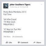 Malaysia u23 [2] vs myanmar[1] pesta bola merdeka 2013