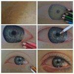 Tulisan mata yang real