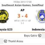Malaysia u23 tewas 4-3 vs Indonesia u23 penentuan penalti separuh akhir sukan sea 2013