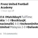 Keputusan frenz international cup group A, 19 jan 2014 dan pasukan yang mara ke separuh akhir fic cup2014