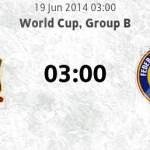 Keputusan terkini Spain vs Chile 19 june 2014