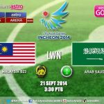 video gol highlights malaysia u23 vs arab saudi u23 sukan asia incheon 21.09.2014
