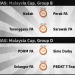 Keputusan dan kedudukan terkini piala malaysia 03.09.2014