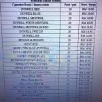 Senarai Harga rokok yang telah ditetapkan 1.8.2015