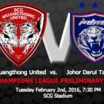 Keputusan terkini JDT vs Muang Thong United afc 2.2.2016