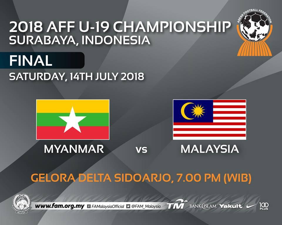 malaysia vs myanmar, piala aff u 19,