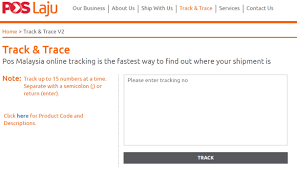 tracking pos barang,