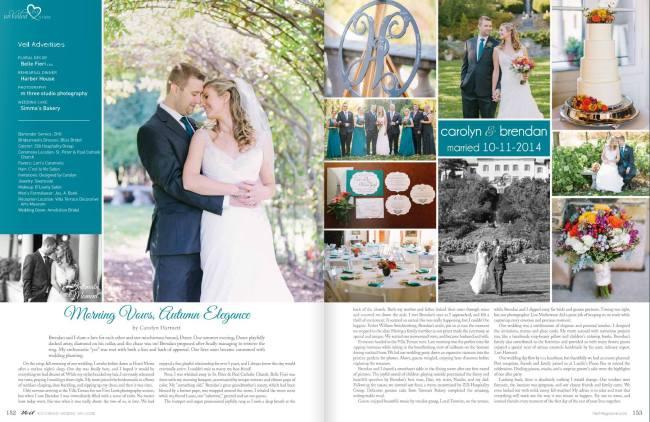 Veil Magazine | Autumn Elegance | Carolyn & Brendan