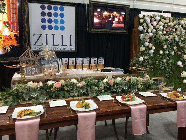 elegant wedding dining demonstration