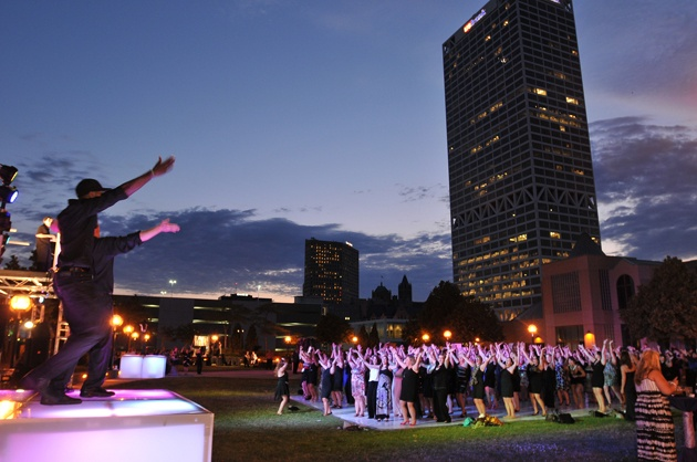 Outdoor Dancing at Milwaukee Event