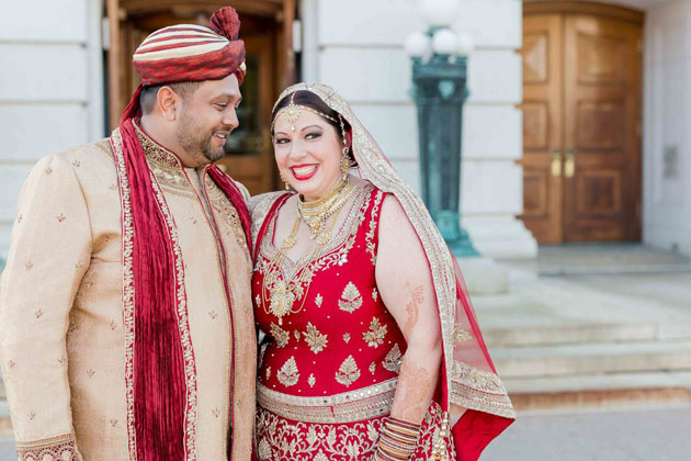 Happy Bride and Groom Couple Wedding
