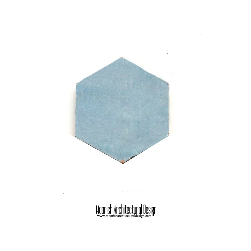 hexagon zellige moroccan bathroom floor tile
