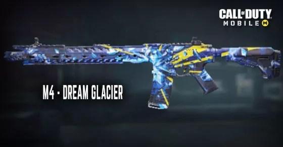 Call of Duty MobileのDream Glacier M4スキン。