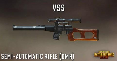 سلاح بندقية لعبة ببجي Vss