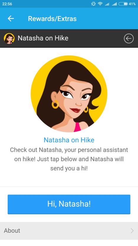 hike assistant natasha