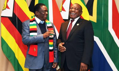 Emmerson Mnangangwa with Cyril Ramaphosa