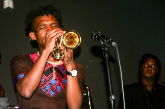 Trumpeter, Mandla Mlangeni delivered an emotional performance in memory of Sisa Sopazi at The Orbit