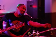 SOFT DRUMMER: The Muffinz drummer and vocalist Gregory Keke Mabusela prepares his drum kit during a performance at Ko'Spotong in Braamfontein.