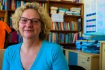 CRITIQUING WHITENESS: Lisa Steyn, Director of the Wits Centre for Diversuty Studies, poses inside her office after an interview discussing white privilege.