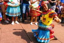 REPRESENTING TSONGA CULTURE: Zanele Tiba, a 3rd year LLB student representing the Tsonga tradition by dancing on stage during the Wits Heritage Day celebrations.
