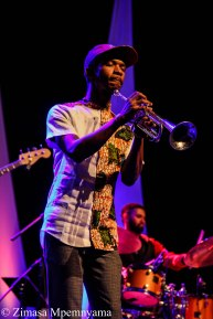 Mandla Mlangeni performing with Tune Recreation Committee (TRC) at the 18th Cape Town International Jazz Festival