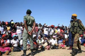Mugabe supporters gather