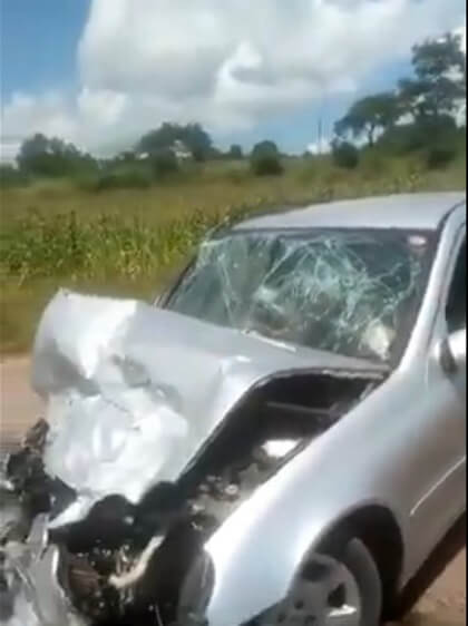 terry afrika involved in a car accident watch video
