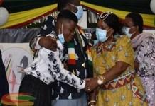 watch video herman makombe received educational scholarship from president ememerson mnagwagwa