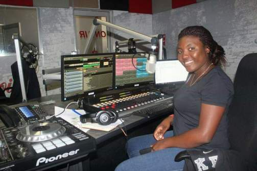 Roseline Mutare in the Hevoi FM studio