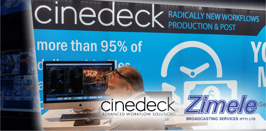 cinedeck in partnership with zimele broadcasting