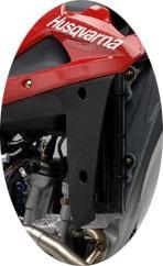 Protetor lateral do radiador Husqvarna TE 2007 preto