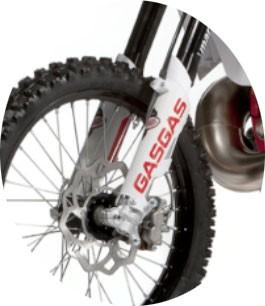 Protetor de garfo dianteiro branco Gas Gas EC 250-300 2007-2014