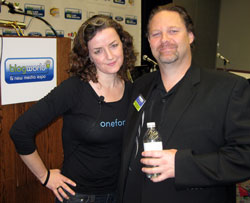 Laura Fitton and Rick Calvert BlogWorld