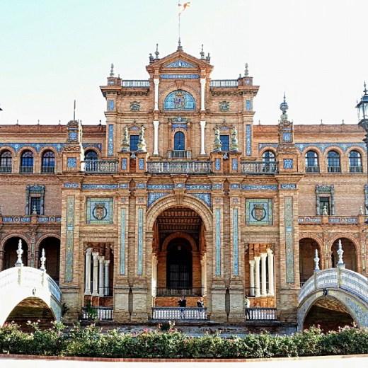 A praça de Espanha em Sevilha