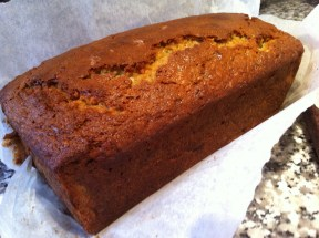 Sour cream banana bread: doesn't look much, but tastes divine. Photo: Su Leslie 2013