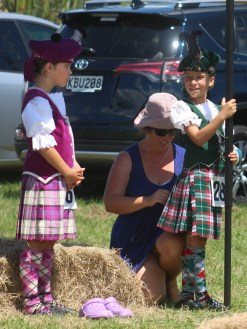 Waiting for a turn, Highland dancers at Helensville A&P Show, NZ. Image: Su Leslie, 2017