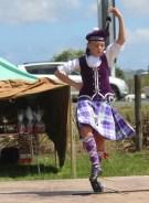 Highland dancer competing at Helensville A&P Show, NZ. Image: Su Leslie, 2017