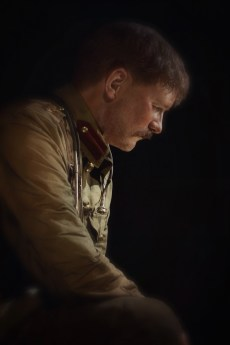 Model of Percival Fenwick at Gallipoli: The scale of our war, Te Papa. Image: Su Leslie, 2017