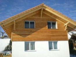 Holzfassade, Chalet-Schalung, Lärche