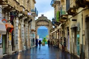 Taormina main street Taormina Sicily Italy Touring