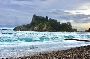 Isola Bella off beach from Taormina Taormina Sicily Italy Touring