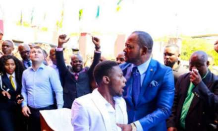 Watch:Pastor Mboro prays outside pastor Lukau's church 'God forgive false prophets'