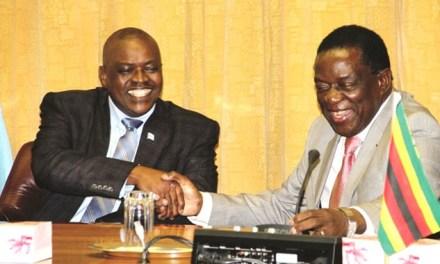 Botswana leader jets in