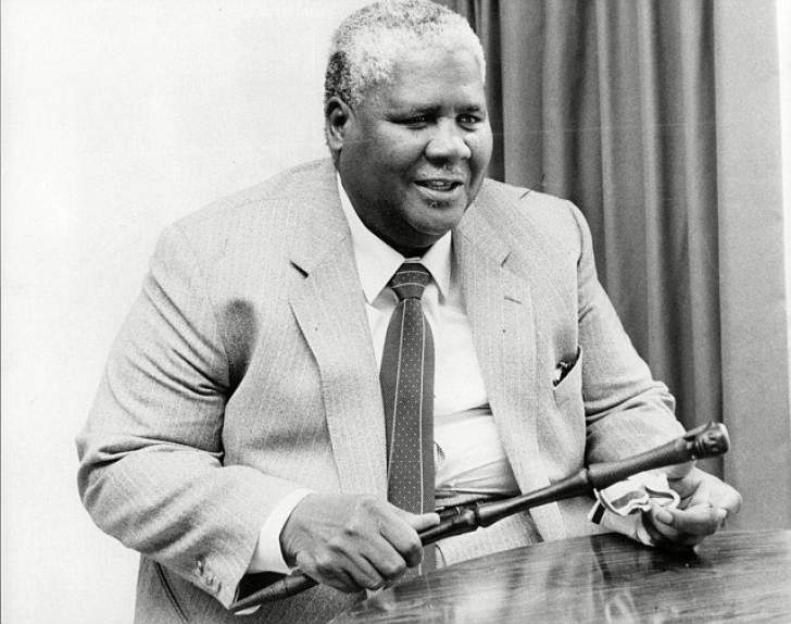 Joshua Nkomo's knobkerrie located