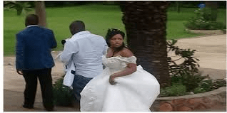 Fracas as ex wife's relatives cause havoc at wedding, ex mother-in-law grabs groom by neck & tears his bowtie