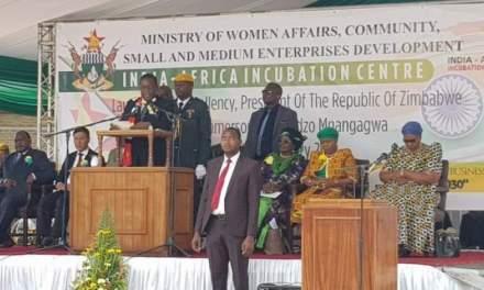 Mnangagwa launches India-Africa Incubation Centre